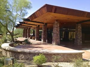 Aviano Community Center's Back Patio
